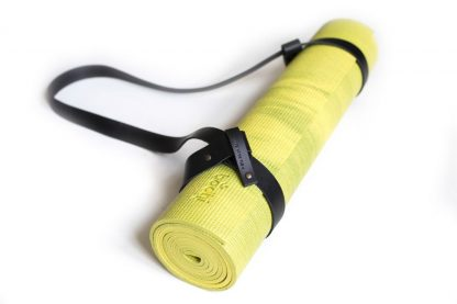 yogamat groen strap noir