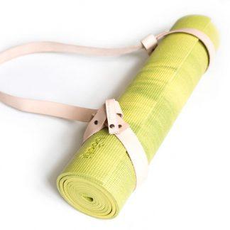 yogamat groen strap nude