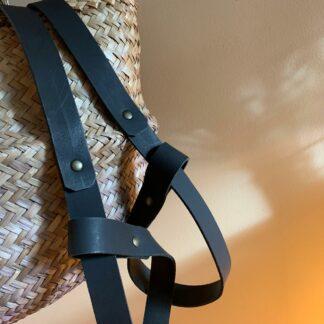 yogamat met strap noir