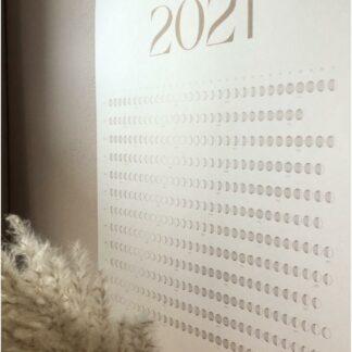 2021 maankalender wit-goud